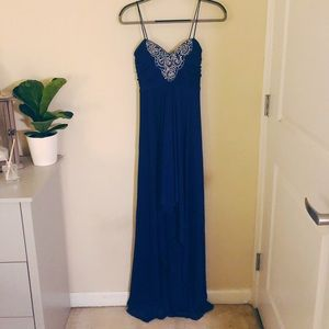 Gorgeous Royal Blue Gown with Flattering Sequins